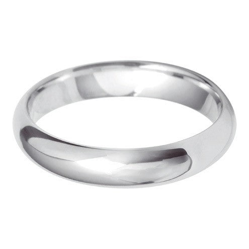 4mm Classic Heavy D Shape - Hamilton & Lewis Jewellery