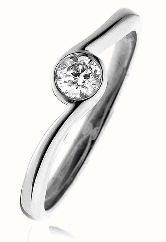 Round Twist Solitaire Ring 0.20ct - 0.40ct - Hamilton & Lewis Jewellery