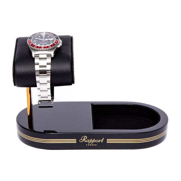 Rapport Black Gold Formula Watch Stand with Tray WS22