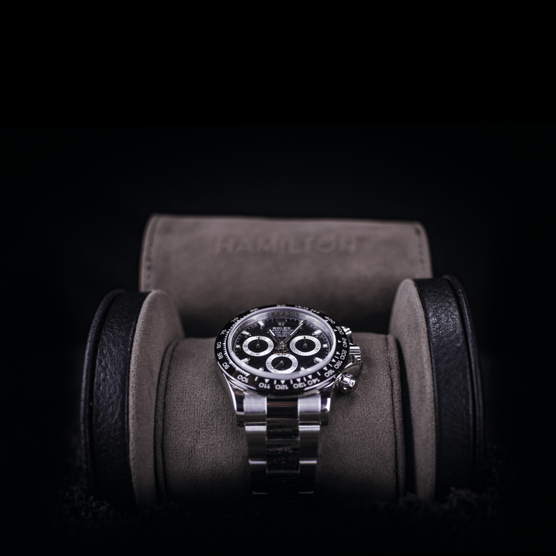 Hamilton Single Black Watch Roll 150120 - Hamilton & Lewis Jewellery