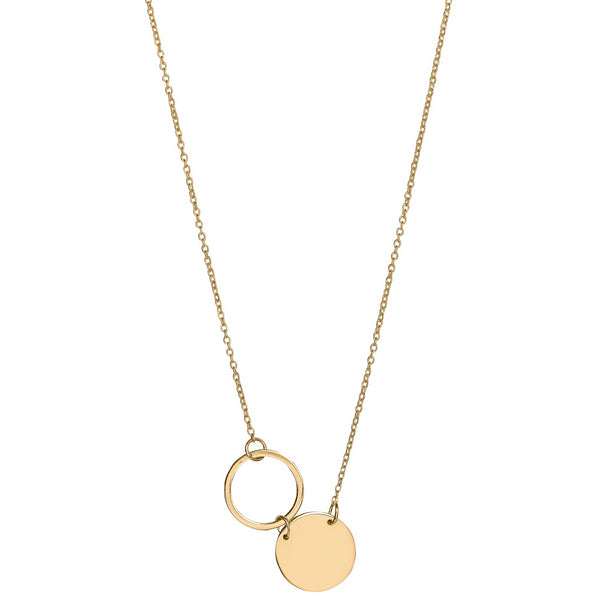 Unique & Co 9ct. Yellow Gold Necklace - DK-40 - Hamilton & Lewis Jewellery