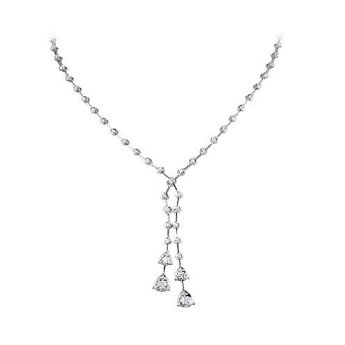Double strand, drop pair necklace 1.55ct - Hamilton & Lewis Jewellery