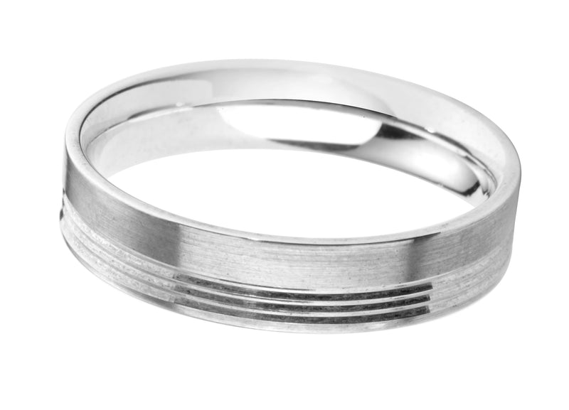 4mm Mens Ring with F02 finish - Hamilton & Lewis Jewellery