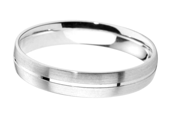 4mm Mens Ring with F05 finish - Hamilton & Lewis Jewellery