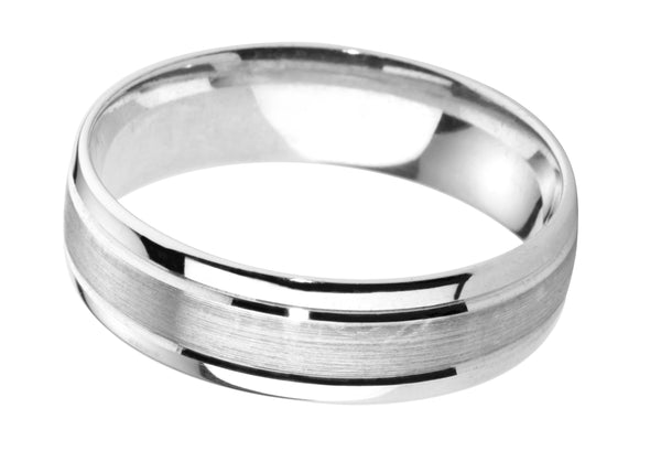 4mm Mens Ring with F06 finish - Hamilton & Lewis Jewellery