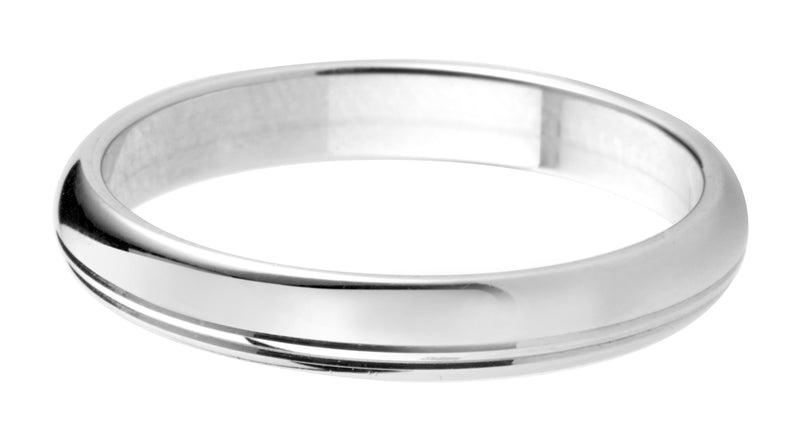 4mm Mens Ring with F11 finish - Hamilton & Lewis Jewellery