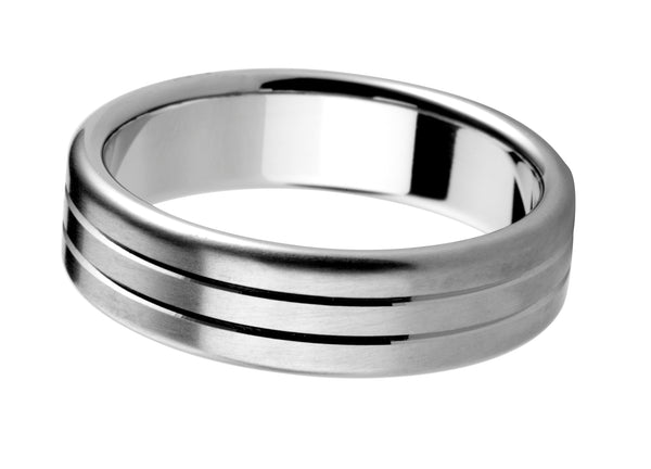 4mm Mens Ring with F14 finish - Hamilton & Lewis Jewellery