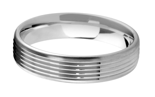 4mm Mens Ring with F20 finish - Hamilton & Lewis Jewellery
