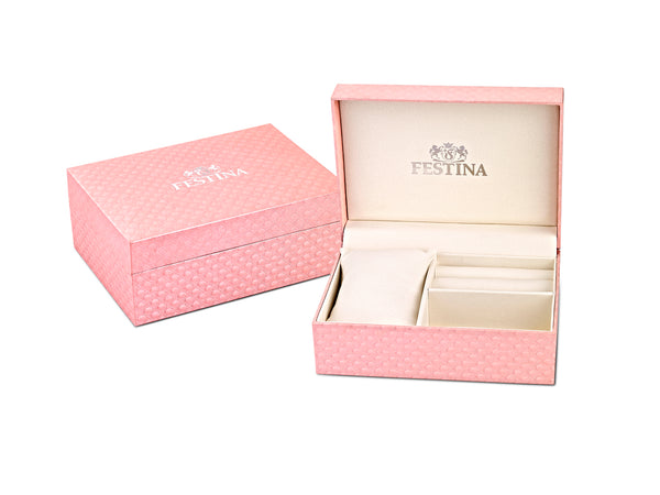 Festina Ladies Watch With Zircons And Mother of Pearl F20402/1 - Hamilton & Lewis Jewellery