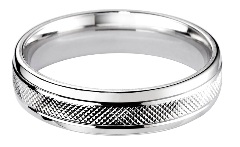 4mm Mens Ring with F33 finish - Hamilton & Lewis Jewellery