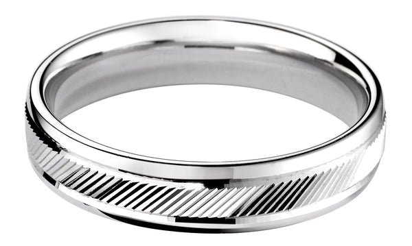 4mm Mens Ring with F34 finish - Hamilton & Lewis Jewellery