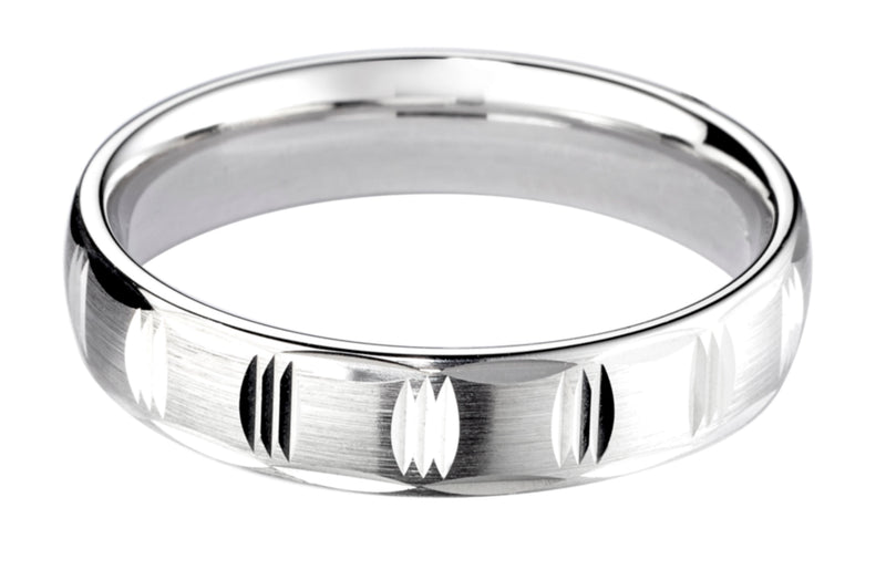 4mm Mens Ring with F35 finish - Hamilton & Lewis Jewellery