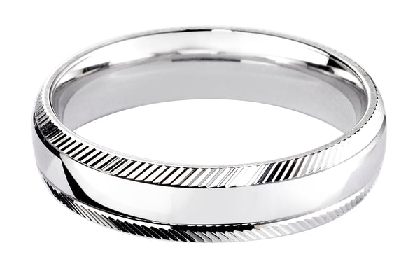 4mm Mens Ring with F37 finish - Hamilton & Lewis Jewellery
