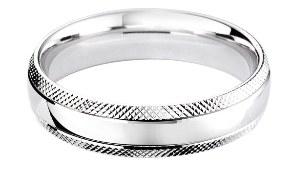4mm Mens Ring with F38 finish - Hamilton & Lewis Jewellery