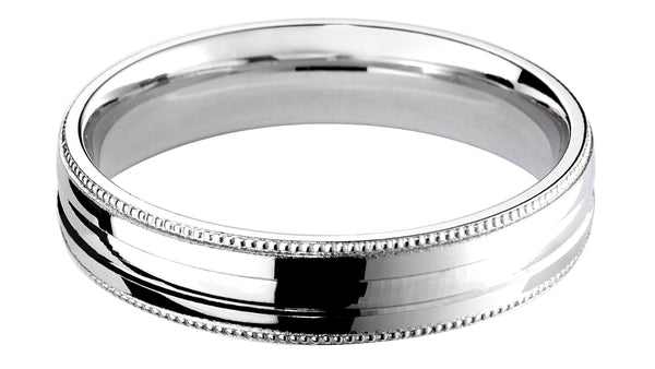 4mm Mens Ring with F44 finish - Hamilton & Lewis Jewellery