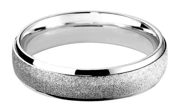 4mm Mens Ring with F46 finish - Hamilton & Lewis Jewellery