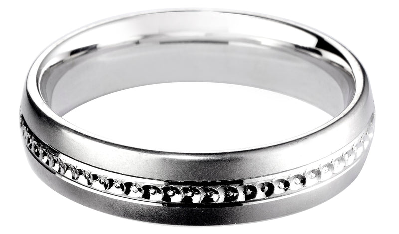 4mm Mens Ring with F58 finish - Hamilton & Lewis Jewellery
