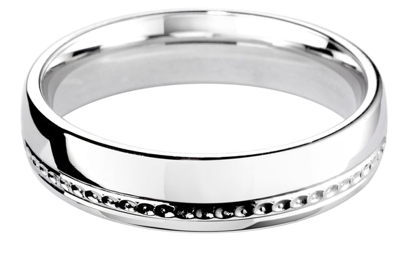 4mm Mens Ring with F60 finish - Hamilton & Lewis Jewellery