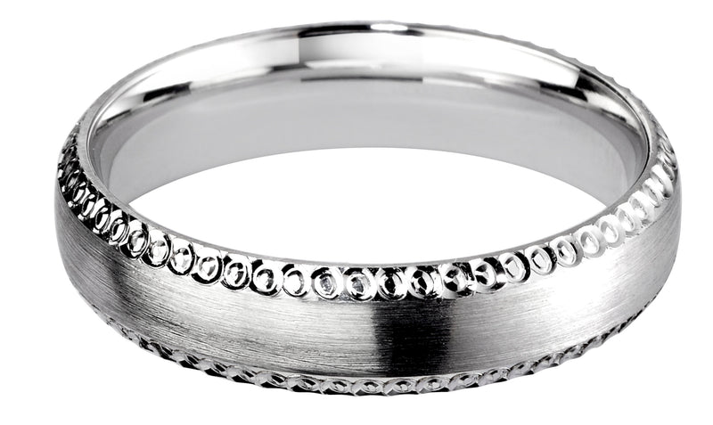 4mm Mens Ring with F61 finish - Hamilton & Lewis Jewellery