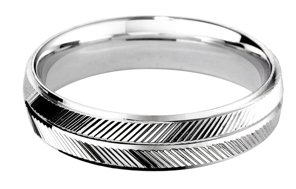 4mm Mens Ring with F64 finish - Hamilton & Lewis Jewellery