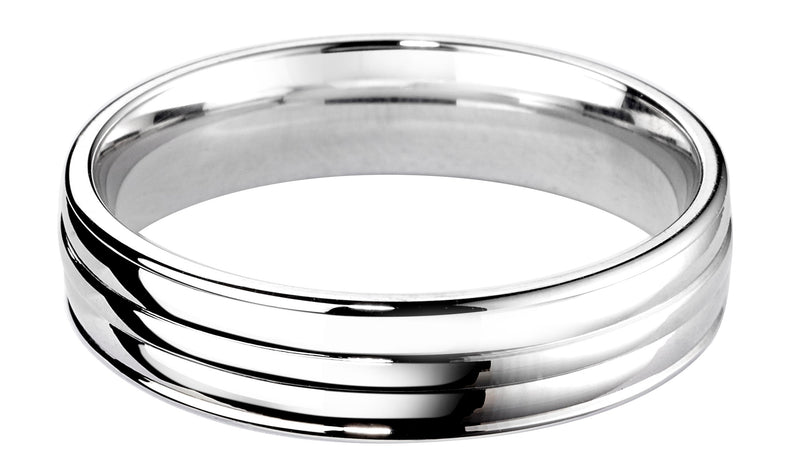 4mm Mens Ring with F65 finish - Hamilton & Lewis Jewellery
