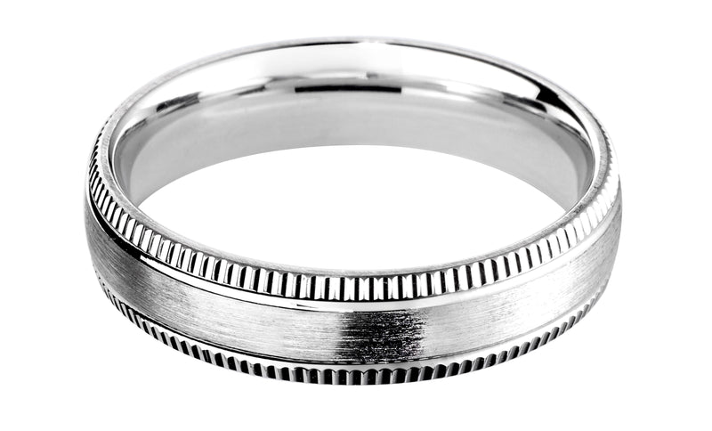 4mm Mens Ring with F67 finish - Hamilton & Lewis Jewellery
