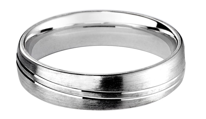 4mm Mens Ring with F70 finish - Hamilton & Lewis Jewellery