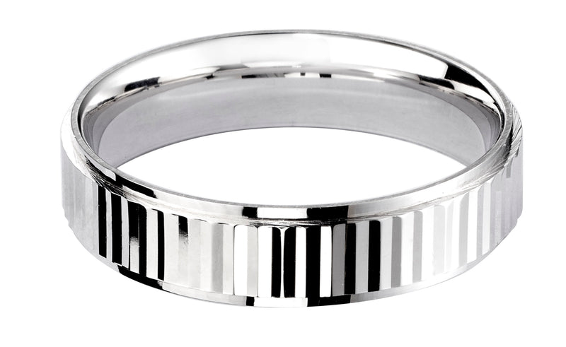 4mm Mens Ring with F71 finish - Hamilton & Lewis Jewellery