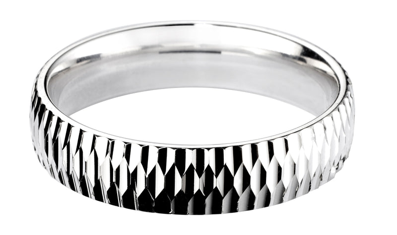 4mm Mens Ring with F72 finish - Hamilton & Lewis Jewellery
