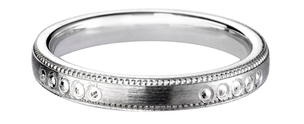 4mm Mens Ring with F59 finish - Hamilton & Lewis Jewellery