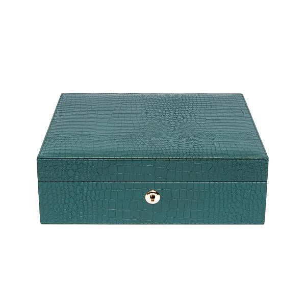 Rapport Brompton Green 8 Watch Box L268 - Hamilton & Lewis Jewellery
