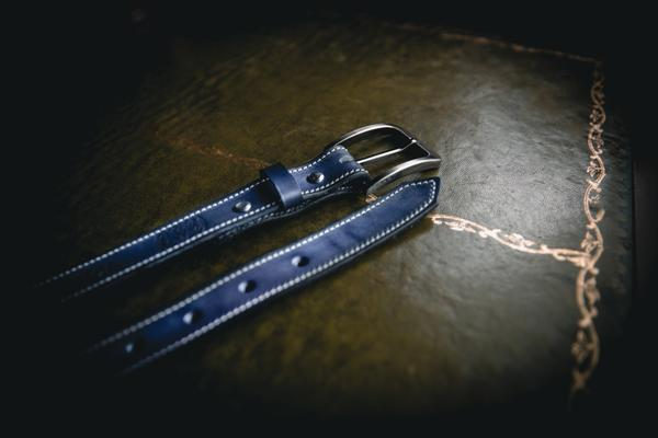 25mm Stitched LADIES Belt - Hamilton & Lewis Jewellery