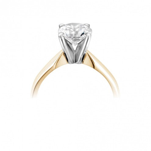 Round Four Claw Solitaire Ring 0.15ct - 1.00ct - Hamilton & Lewis Jewellery
