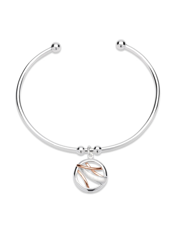 Unique & Co Ladies Sterling Silver Bangle MB-530 - Hamilton & Lewis Jewellery