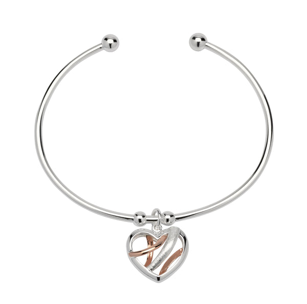 Unique & Co Ladies Sterling Silver Bangle MB-538 - Hamilton & Lewis Jewellery