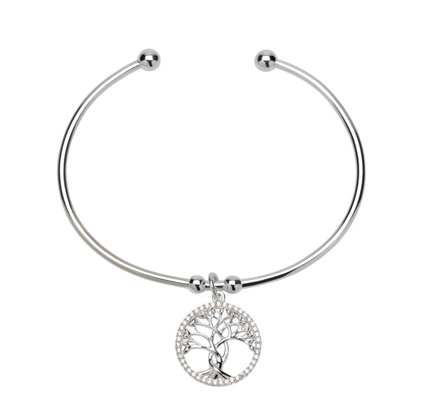 Unique & Co Ladies Sterling Silver Bangle MB-547