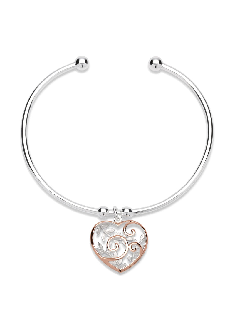Unique & Co Ladies Sterling Silver Bangle MB-566 - Hamilton & Lewis Jewellery