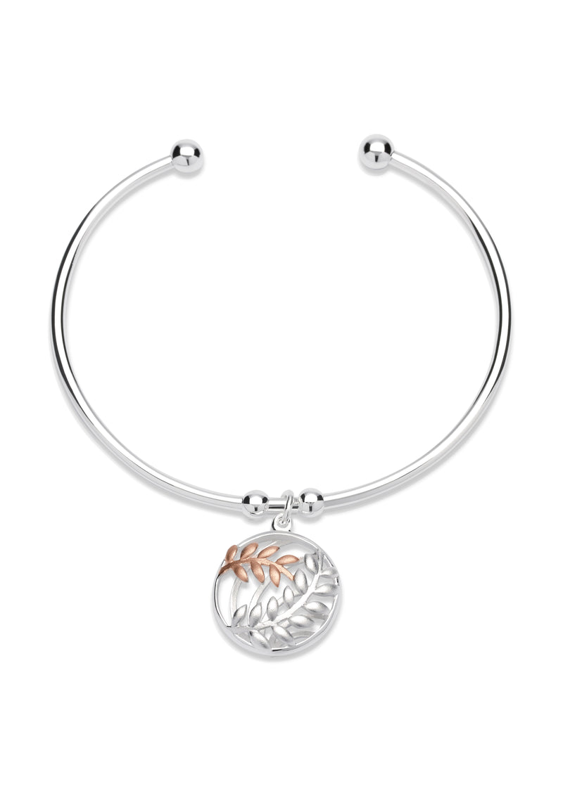 Unique & Co Ladies Sterling Silver Bangle MB-567 - Hamilton & Lewis Jewellery