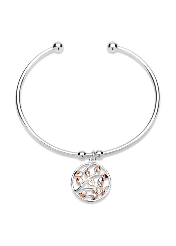 Unique & Co Ladies Sterling Silver Bangle MB-574