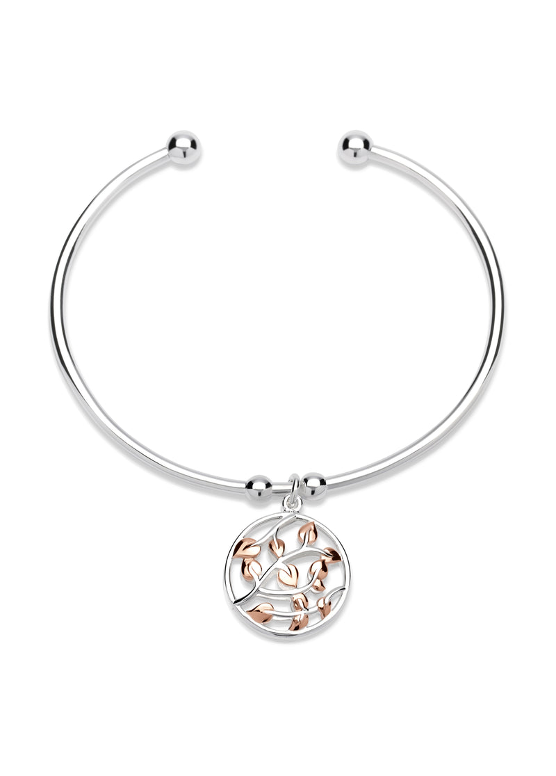 Unique & Co Ladies Sterling Silver Bangle MB-574 - Hamilton & Lewis Jewellery