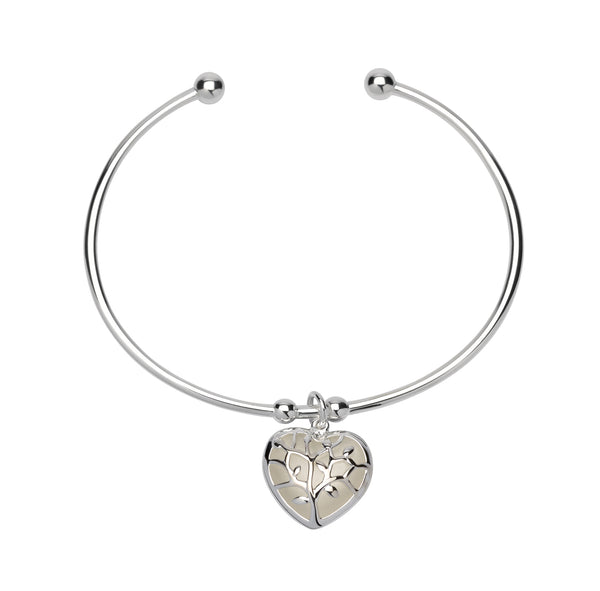 Unique & Co Ladies Sterling Silver Bangle MB-600 - Hamilton & Lewis Jewellery