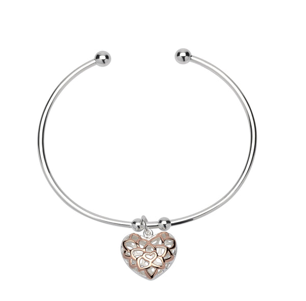 Unique & Co Ladies Sterling Silver Bangle MB-607 - Hamilton & Lewis Jewellery