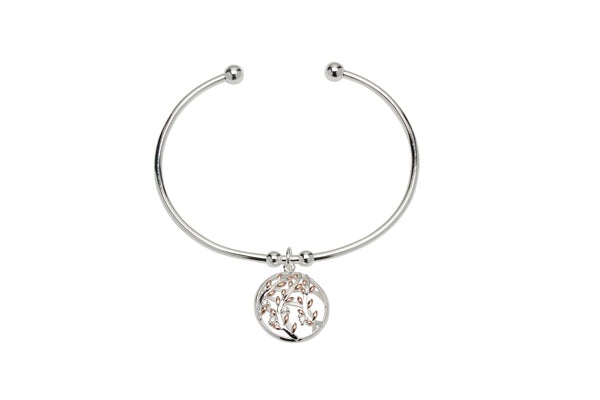 Unique & Co Ladies Sterling Silver Bangle MB-635