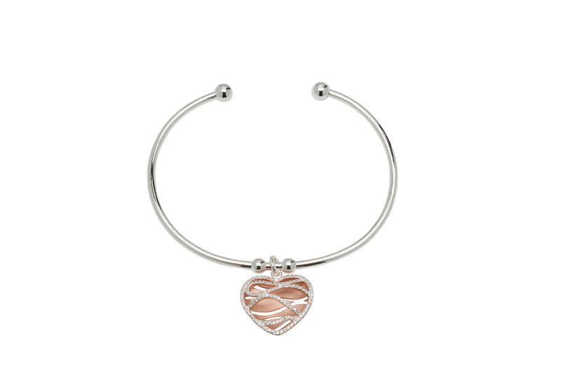 Unique & Co Ladies Sterling Silver Bangle MB-644 - Hamilton & Lewis Jewellery