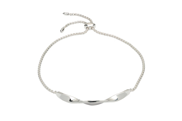 Unique & Co Ladies Sterling Silver Bracelet MBR-580 - Hamilton & Lewis Jewellery