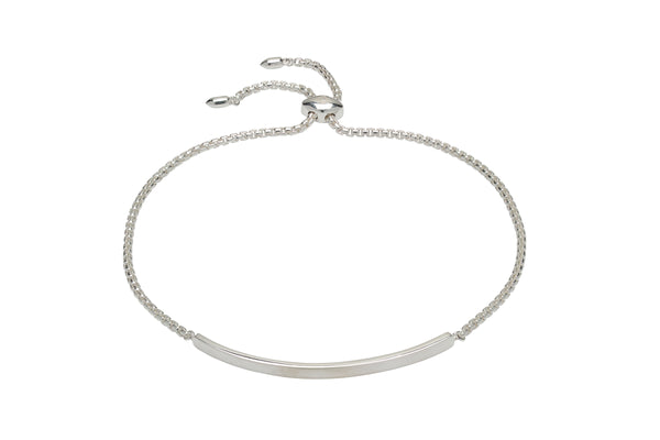 Unique & Co Ladies Sterling Silver Bracelet MBR-581 - Hamilton & Lewis Jewellery