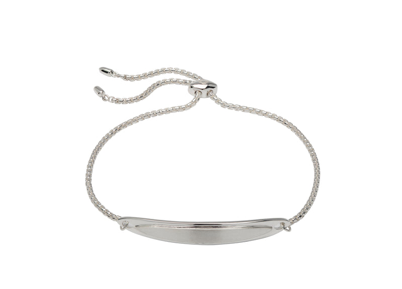Unique & Co Ladies Sterling Silver Bracelet MBR-590 - Hamilton & Lewis Jewellery