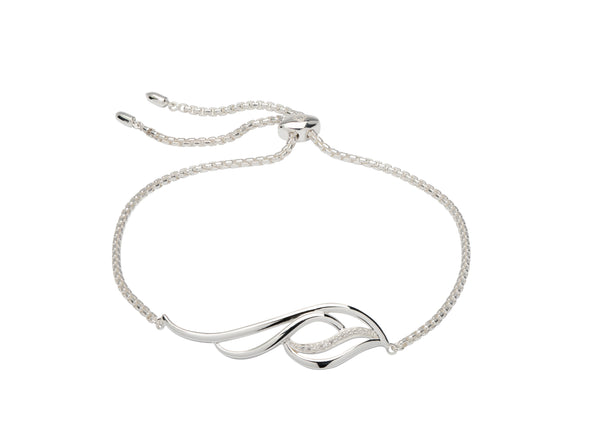 Unique & Co Ladies Sterling Silver Bracelet MBR-594 - Hamilton & Lewis Jewellery