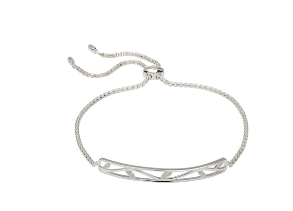Unique & Co Ladies Sterling Silver Bracelet MBR-596 - Hamilton & Lewis Jewellery