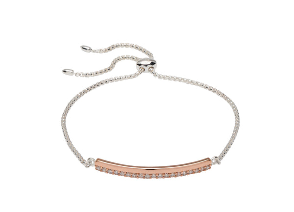Unique & Co Ladies Sterling Silver Bracelet MBR-599 - Hamilton & Lewis Jewellery